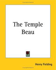 Cover of: The Temple beau