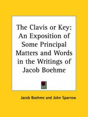 Cover of: The Clavis or Key