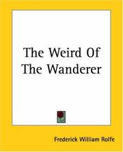 Cover of: The Weird of the Wanderer