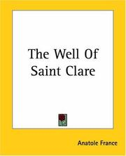 Cover of: The Well Of Saint Clare | Anatole France