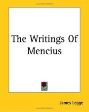 Cover of: The Writings of Mencius