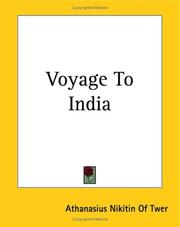 Cover of: Voyage to India