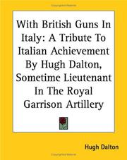Cover of: With British Guns in Italy