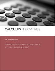 Cover of: Calculus III