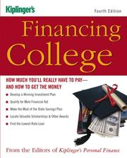 Cover of: Financing College