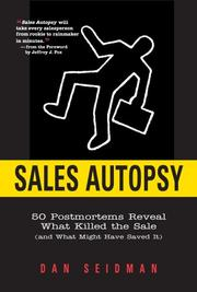 Cover of: Sales Autopsy