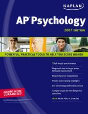 Cover of: Kaplan AP Psychology 2007 Edition