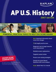 Cover of: Kaplan AP U.S. History 2007 Edition