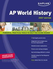 Cover of: AP world history