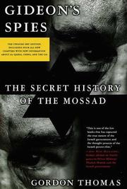 Cover of: Gideon's spies: the secret history of the Mossad