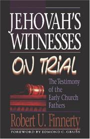 Cover of: Jehovah's Witnesses on Trial by Robert U. Finnerty
