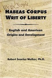 Cover of: Habeas Corpus Writ of Liberty