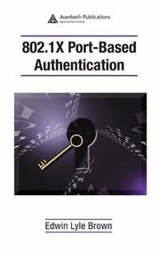 Cover of: 802.1X Port-Based Authentication | Edwin Lyle Brown