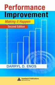Cover of: Performance Improvement