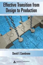 Effective transition from design to production by David F. Ciambrone