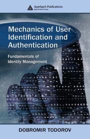 Cover of: Mechanics of user identification and authentication