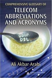 Cover of: Comprehensive Glossary of Telecom Abbreviations and Acronyms