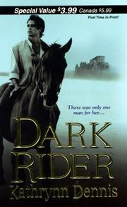 Cover of: Dark Rider (Zebra Debut)