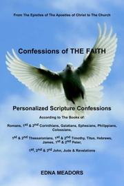 Cover of: Confessions of THE FAITH