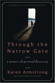 Cover of: Through the narrow gate