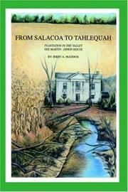 Cover of: From Salacoa to Tahlequah | Jerry A. Maddox