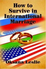 Cover of: How to Survive in International Marriage
