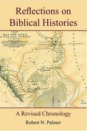 Cover of: Reflections on Biblical Histories