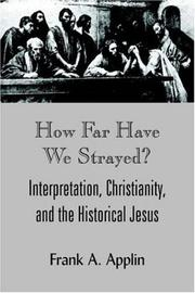 Cover of: How Far Have We Strayed?
