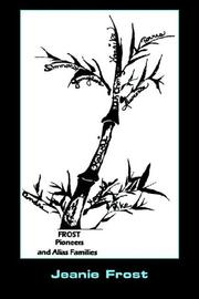Cover of: Frost Pioneers and Alias' Families