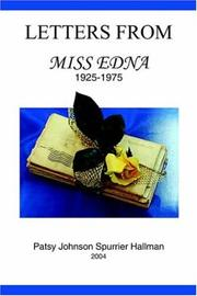 Cover of: Letters From Miss Edna
