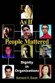 Cover of: As If People Mattered