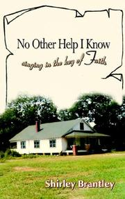 Cover of: No Other Help I Know