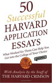 Cover of: 50 Successful Harvard Application Essays | Staff of the Harvard Crimson