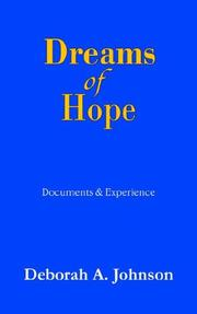 Cover of: Dreams of Hope | Deborah A. Johnson