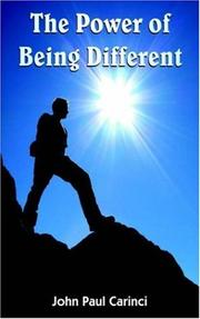 Cover of: The Power of Being Different | John, Paul Carinci