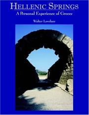 Cover of: Hellenic Springs | Walter Lovelace