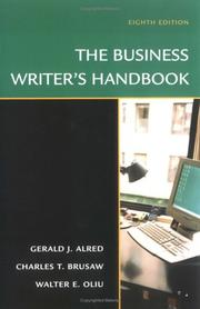 Cover of: The Business Writer's Handbook, Eighth Edition (Business Writer's Handbook)