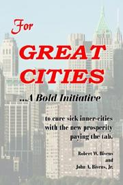 Cover of: For GREAT CITIES