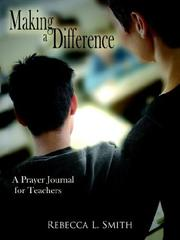Cover of: Making a Difference | Rebecca L. Smith
