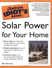 Cover of: Complete idiot's guide to solar power for your home | Dan Ramsey