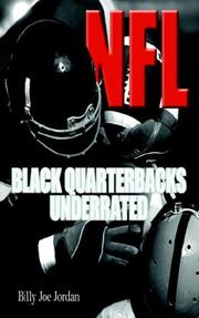 Cover of: N.F.L. Black Quarterbacks Underrated | Billy Joe Jordan