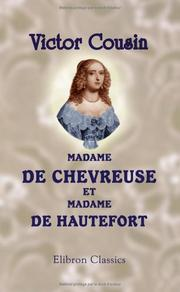 Cover of: Madame de Chevreuse et Madame de Hautefort
