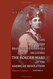 Cover of: Life of Joseph Brant-Thayendanegea | William Leete Stone