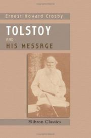 Cover of: Tolstoy and His Message