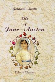 Cover of: Life of Jane Austen | Goldwin Smith