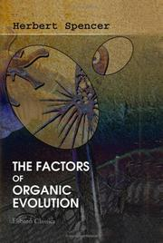 Cover of: The Factors of Organic Evolution