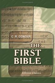 Cover of: The First Bible