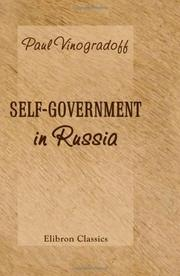 Cover of: Self-Government in Russia