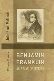 Cover of: Benjamin Franklin as a man of letters