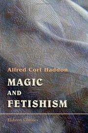 Cover of: Magic and Fetishism